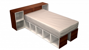 Twin Bed 02I1